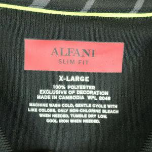 Alfani Shirts - Alfani Mens XL Slim FIt Polo Black Striped